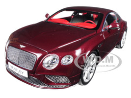 2016 Bentley Continental GT LHD Burgundy 1/18 Diecast Model Car Paragon 98221