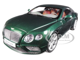 2016 Bentley Continental GT LHD Verdant Green 1/18 Diecast Model Car Paragon 98222