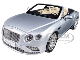 2016 Bentley Continental GT Convertible LHD Silver Frost 1/18 Diecast Model Car Paragon 98231