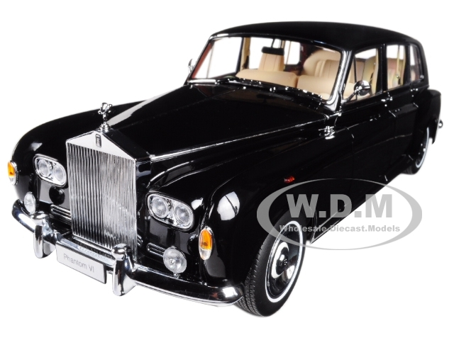 Rolls Royce Phantom VI Black 1/18 Diecast Model Car Kyosho 08905