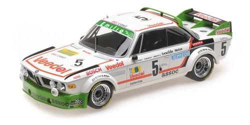 BMW 3.0 CSL #5 Assoc Interim Chavan Detrin Demuth Winners 24 Hours SPA 1976 Limited to 600pc Worldwide 1/18 Diecast Model Car Minichamps 155762505