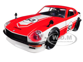1972 Datsun 240Z #53 Red White JDM Tuners 1/24 Diecast Model Car Jada 99100