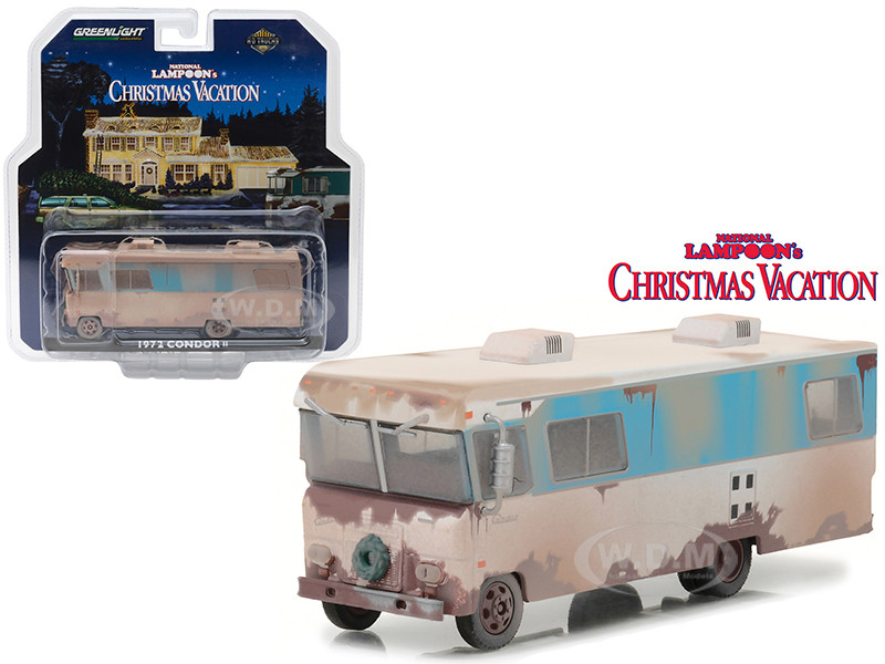 Model In Christmas Vacation.1972 Condor Ii Rv From National Lampoon Christmas Vacation Movie Hd Trucks Series 10 1 64 Diecast Model By Greenlight