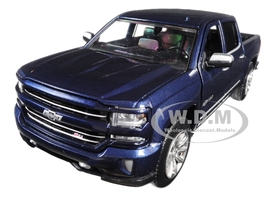 2018 Chevrolet Silverado LTZ Centennial 100 Years Anniversary Edition Blue 1/27 Diecast Model Car Motormax 79353