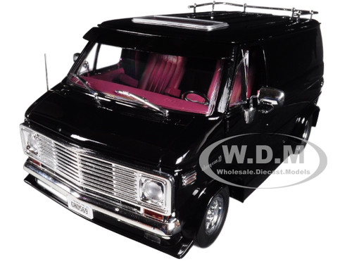 1976 Chevrolet G-Series Van Black Limited Edition 1/18 Diecast Car Model Highway 61 18002