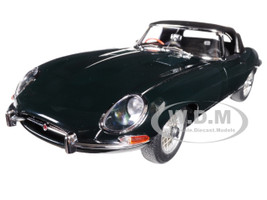 Jaguar E Type Series 1 3.8 Green with Metal Wire-Spoke Wheels 1/18 Diecast Model Car Autoart 73604