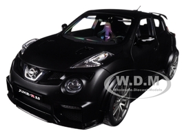 Nissan Juke R 2.0 Matt Black 1/18 Model Car Autoart 77458