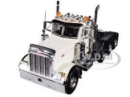 Peterbilt 379 8X4 4 Axle Tractor Day Cab White 1/50 Diecast Model WSI Models 33-2014