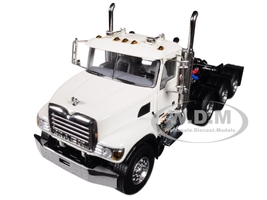 Mack Granite 8X4 4 Axle Tractor Day Cab White 1/50 Diecast Model WSI Models 33-2018