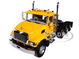 Mack Granite 8X4 4 Axle Tractor Day Cab Yellow 1/50 Diecast Model WSI Models 33-2019