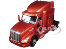 Peterbilt 579 6X4 3 Axle Tractor Sleeper Cab Brown Metallic 1/50 Diecast Model WSI Models 33-2024