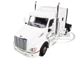 Peterbilt 579 6X4 3 Axle Tractor Sleeper Cab White 1/50 Diecast Model WSI Models 33-2025