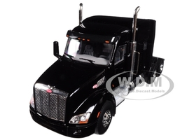 Peterbilt 579 6X4 3 Axle Tractor Sleeper Cab Black 1/50 Diecast Model WSI Models 33-2026