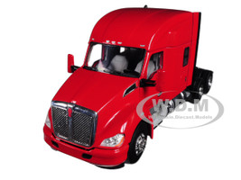 Kenworth T680 6X4 3 Axle Tractor Sleeper Cab Red 1/50 Diecast Model WSI Models 33-2029