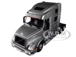 Volvo VN780 6X4 3 Axle Tractor Sleeper Cab Silver 1/50 Diecast Model WSI Models 33-2030