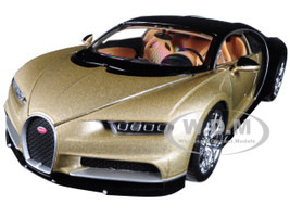 Bugatti Chiron Gold Black 1/24 1/27 Diecast Model Car Welly 24077