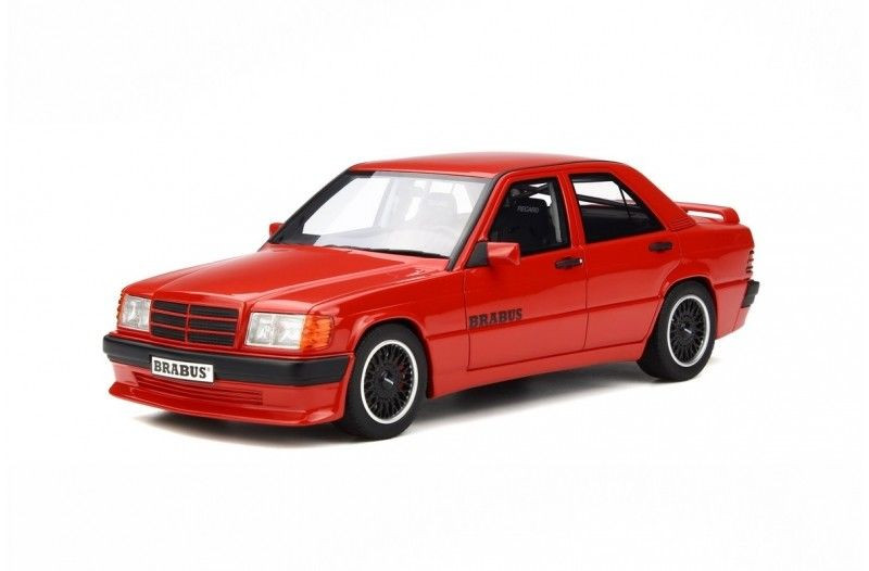 Brabus Mercedes 190E 3 6S (W 201) Signal Red Limited Edition to 2500pcs  1/18 Model Car by Otto Mobile