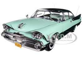 1959 Dodge Custom Royal Lancer Hard Top Jade Poly Aquamarine Platinum Edition 1/18 Diecast Model Car SunStar 5483