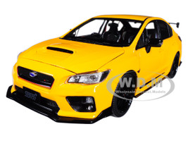 2015 Subaru WRX STi S207 NBR Challenge Package Yellow Limited Edition to 3000 pieces Worldwide 1/18 Diecast Model Car Sunstar 5551