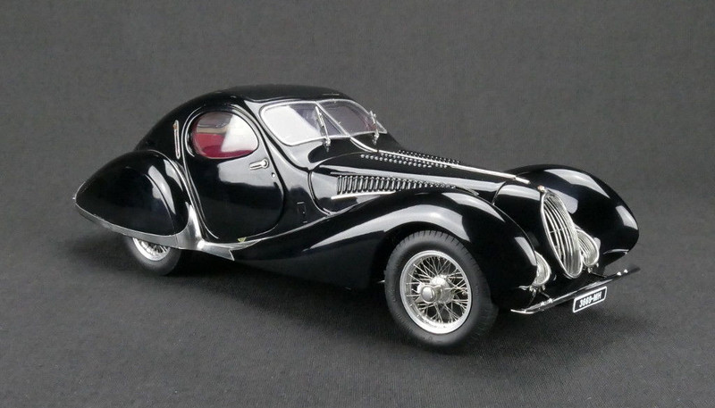 1937-39 Talbot Lago Coupe Black T150 C-SS Figoni & Falaschi Teardrop Limited Edition to 1500 pieces Worldwide 1/18 Diecast Model Car CMC 166