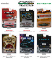 Hollywood Series Release 18 6pc Set 1/64 Diecast Model Cars Greenlight 44780