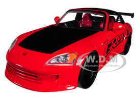 2001 Honda S2000 Red JDM Tuners 1/24 Diecast Model Car Jada 98686