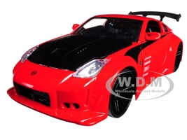 2003 Nissan 350Z Red JDM Tuners 1/24 Diecast Model Car Jada 99110