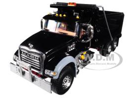 Mack Granite MP Dump Truck Black Red Chassis 1/50 Diecast Model First Gear 50-3386