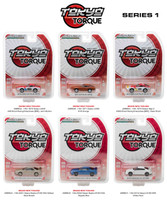 Tokyo Torque Series Release 1 6pc Set 1/64 Diecast Model Cars Greenlight 29880