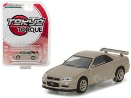 2001 Nissan Skyline GT-R R34 M-Spec Silica Breath Tokyo Torque Series 1 1/64 Diecast Model Car Greenlight 29880 D