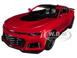 2017 Chevrolet Camaro ZL1 Burgundy 1/24 Diecast Car Model Motormax 79351