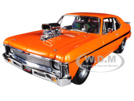 1968 Chevrolet Nova Orange 1320 Drag King's Car Limited Edition 1/18 Diecast Model Car GMP 18873