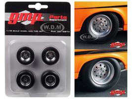 1968 Chevrolet Nova 1320 Drag King's Wheels and Tires Set of 4 1/18 GMP 18874