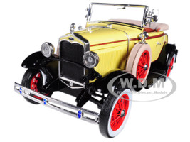 1931 Ford Model A Roadster Bronson Yellow 1/18 Diecast Model Car Sunstar 6122