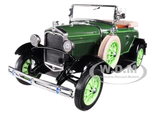 1931 Ford Model A Roadster Brewster Green 1/18 Diecast Model Car Sunstar 6123