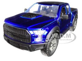2017 Ford F-150 Raptor Pickup Truck Blue 1/24 Diecast Model Car Jada 98583
