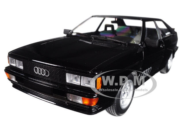 1980 Audi Quattro Black Metallic Limited Edition to 504 pieces Worldwide 1/18 Diecast Model Car Minichamps 155016121