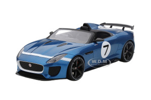 Jaguar F-Type Project 7 #7 Concept Ecurie Ecosse Blue Limited Edition to 999pcs 1/18 Model Car Top Speed TS0035