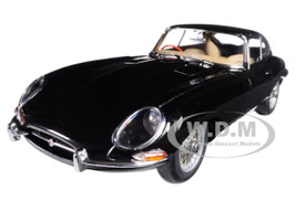 Jaguar E Type Coupe Series 1 3.8 Black Metal Wire Spoke Wheels 1/18 Diecast Model Car Autoart 73611