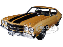 1970 Chevrolet SS 396 Desert Sand with Black Stripes Limited Edition to 378 pieces Worldwide 1/18 Diecast Model Car Acme A1805509