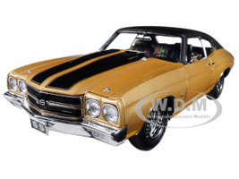 1970 Chevrolet SS 396 Desert Sand with Vinyl Roof Limited Edition to 276 pieces Worldwide 1/18 Diecast Model Car Acme A1805509 VT