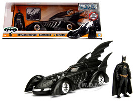 1995 Batman Forever Batmobile with Diecast Batman Figure 1/24 Diecast Model Car Jada 98036