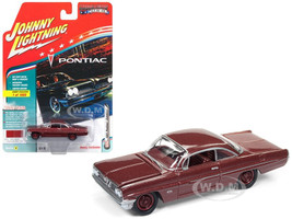 1961 Pontiac Catalina Coronado Red Poly Limited Edition to 1800pc Worldwide Hobby Exclusive Muscle Cars USA 1/64 Diecast Model Car Johnny Lightning JLSP008 A