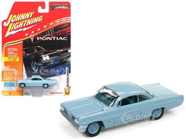 1961 Pontiac Catalina Tradewind Blue Limited Edition to 1800pc Worldwide Hobby Exclusive Muscle Cars USA 1/64 Diecast Model Car Johnny Lightning JLSP008 B