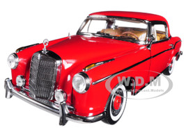 1958 Mercedes 220SE 220 SE Coupe Red 1/18 Diecast Model Car Sunstar 3563
