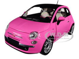 2010 Fiat 500 Pink 1/18 Diecast Model Car Norev 187752
