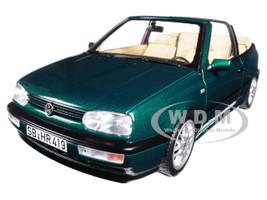 1995 Volkswagen Golf Cabriolet Green Metallic 1/18 Diecast Model Car Norev 188431