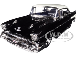 1957 Chevrolet Bel Air Black/White Big Time Muscle 1/24 Diecast Model Car Jada 98943