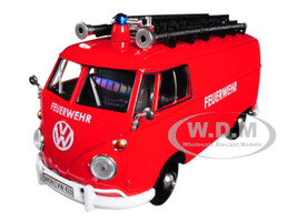 Volkswagen Type 2 T1 Fire Van Red 1/24 Diecast Model Car Motormax 79564