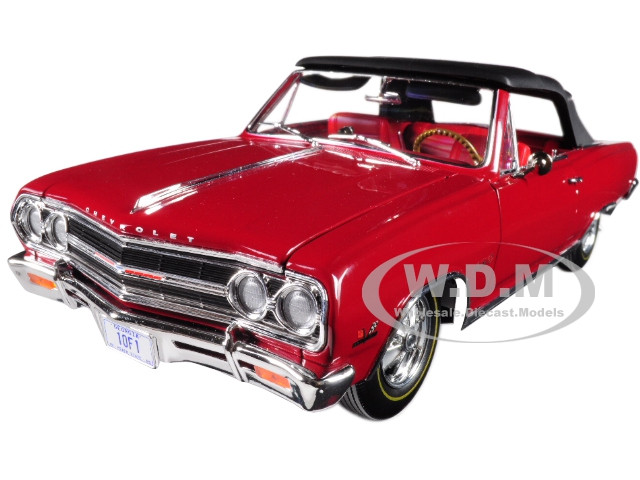 1965 Chevrolet Malibu Chevelle SS Z16 Convertible Red Fact or Fiction Limited Edition to 390 pieces Worldwide 1/18 ACME A1805306